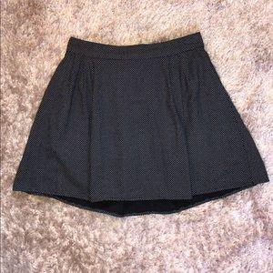 Old Navy blue and white polka dot mini skirt